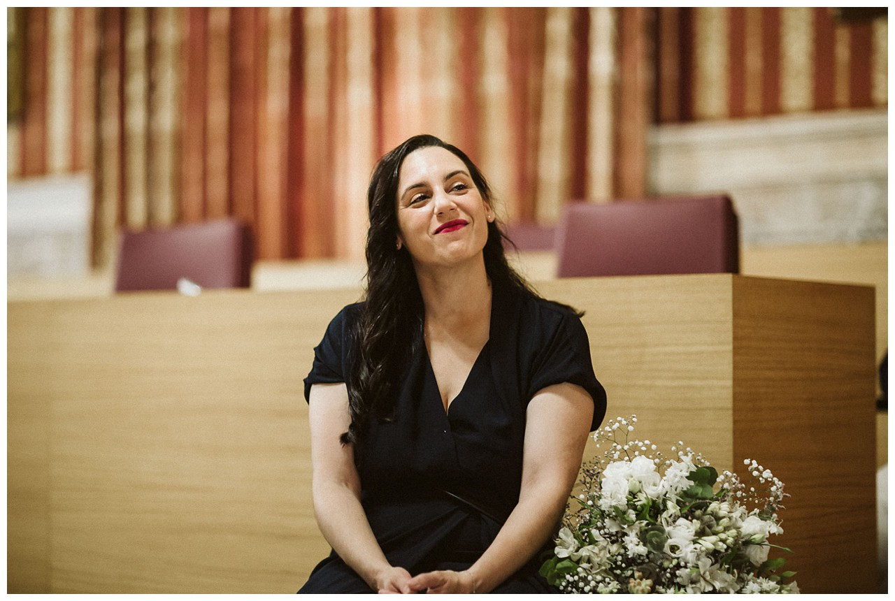 Testigo de boda en el Salón Colon del Ayuntamiento de Sevilla