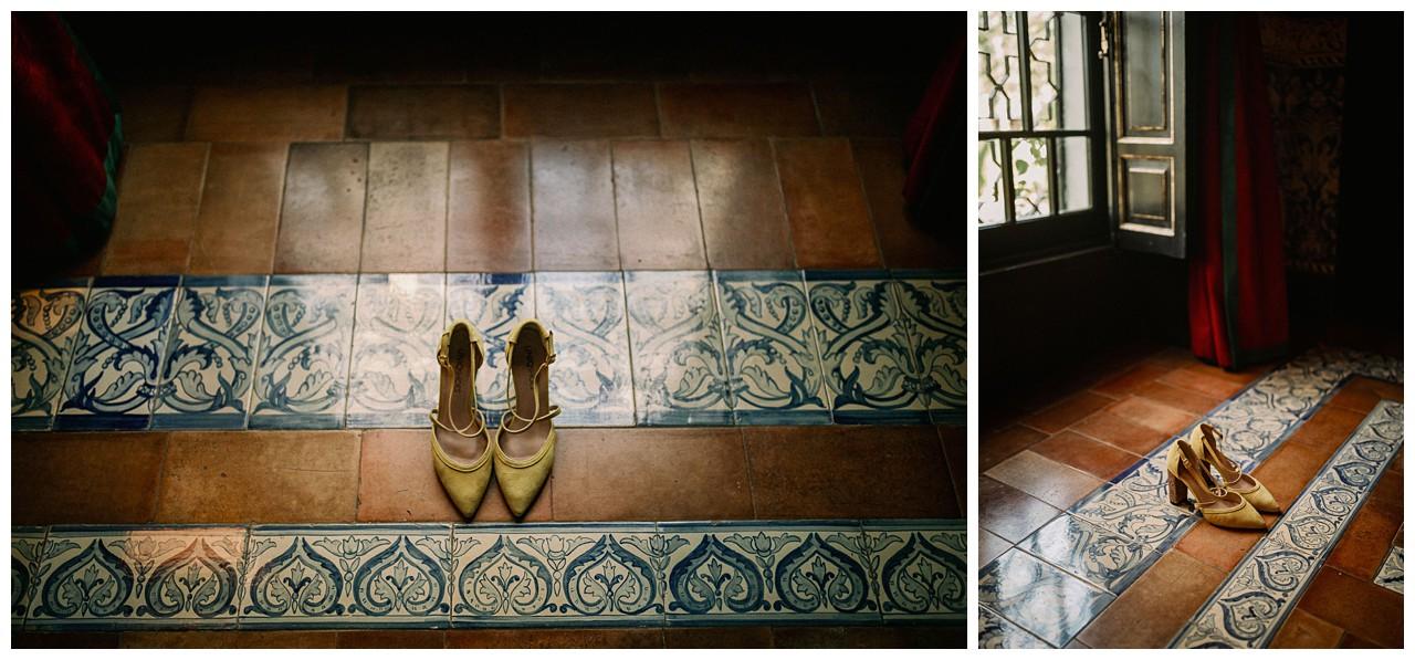 los zapatos de la novia en Villa Luisa