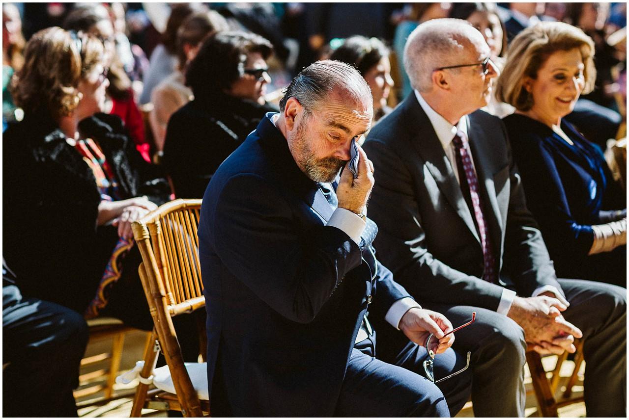 Lágrimas del padre de la novia