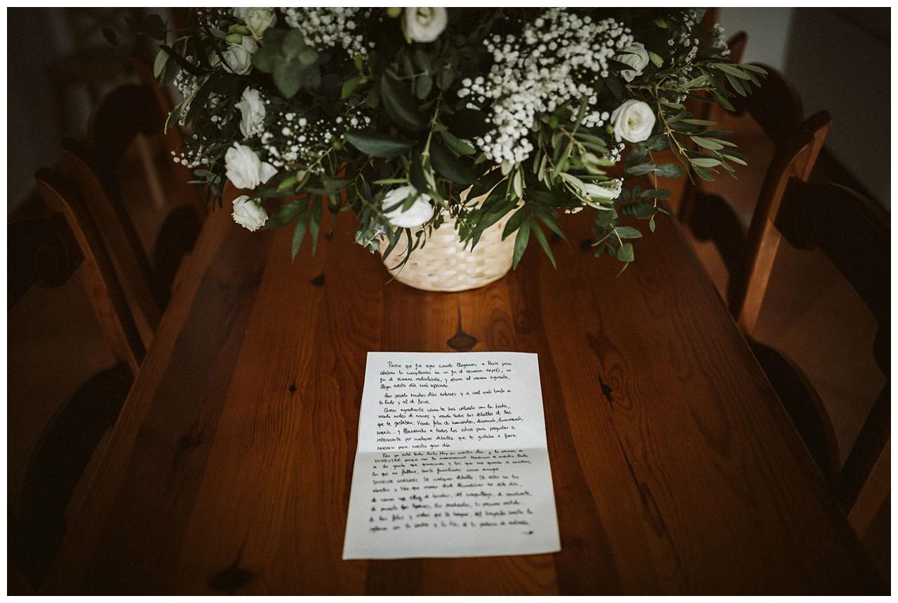 Un carta de amor para la novia