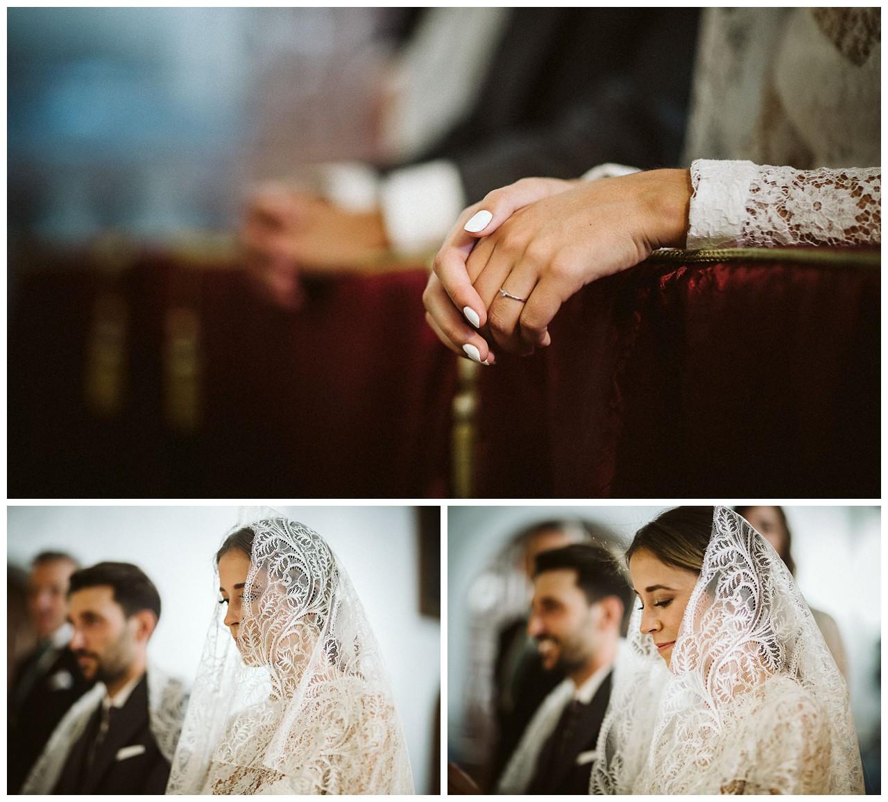 La novia con mantilla