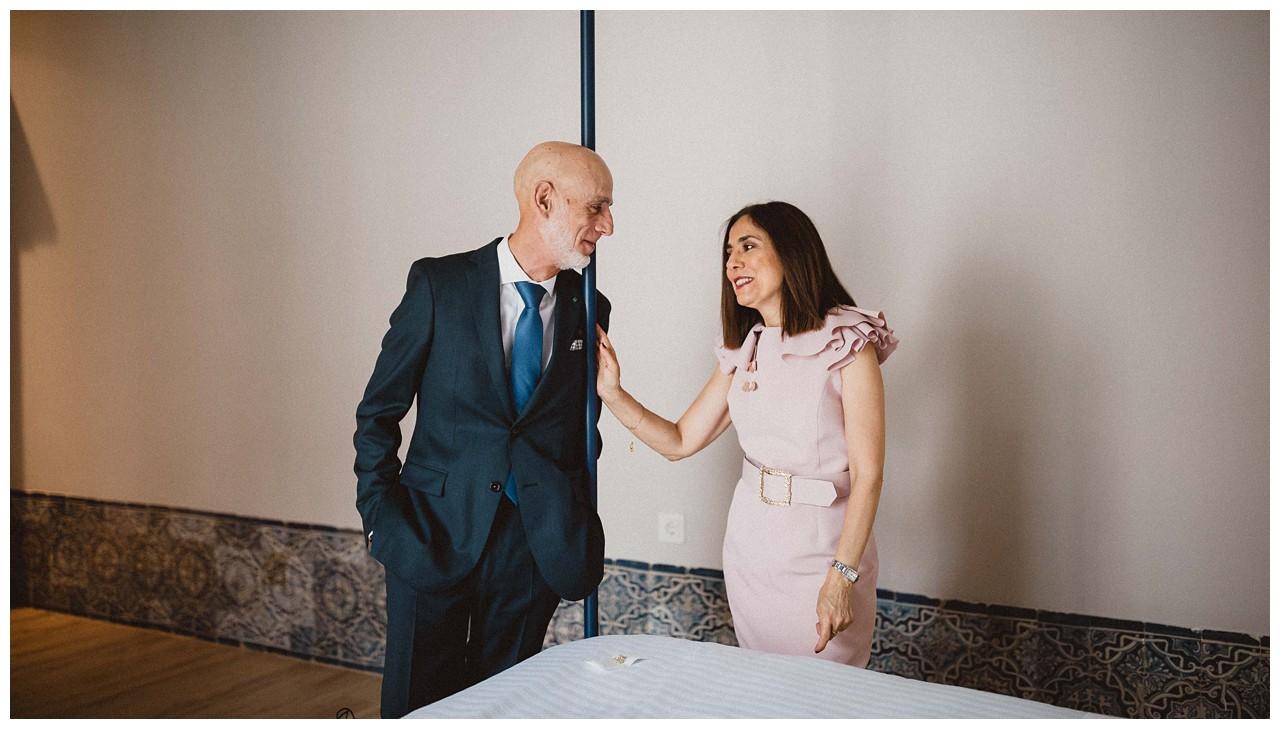 Los padres de la novia en Palacio Bucarelli